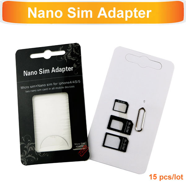 4in1 Sim Card Adapters For iPhone5s 5c 5 4s 4 Samsung Sony HTC Micro+Standard+Nano Sim Card Adapters+Eject Pin Key 2014 Hot 0601(China (Mainland))