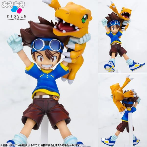 Kissen Digimon Action Figures Yagami Taichi Agumon PVC Figures Digital Monster Model Toys Digimon Adventure Game Digimons Doll(China (Mainland))