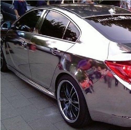 "6""x60"" 15cmx152cm Car Auto Vehicle Mirror Chrome Sticker Silver Gloss Foil Vinyl Wrap Cover Film Sheet(China (Mainland))"