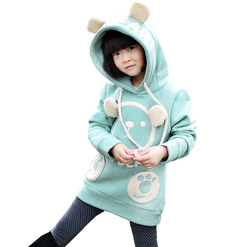 Гаджет  Kids clothing new big girls spring & autumn clothes fashion cute children hoody casual thick kids sweatshirt children hoodie  None Детские товары