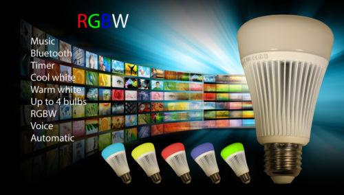 Bluetooth Smart Apple Android App Control Lamp Led wireless RGBW light bulb E27(China (Mainland))