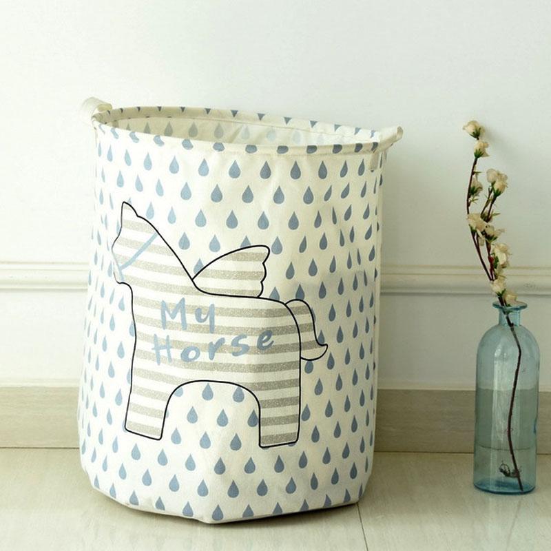 2016 Waterproof Dirty Barrel Folding Toy Creative Clothes Basket Bra Necktie Socks Storage Box Bag Bins Organizer Laundry Basket(China (Mainland))