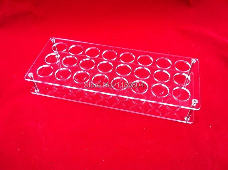 Acrylic e cig display case electronic cigarette stand shelf holder display rack box for 24pcs 10ml e-liquid e-juice bottle DHL
