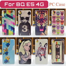 (FOR 3G Edition )New Fashion Coloured Painting Case for BQ Aquaris Hard PC Cover BQ E5 (FOR 3G Edition ) Free Shipping
