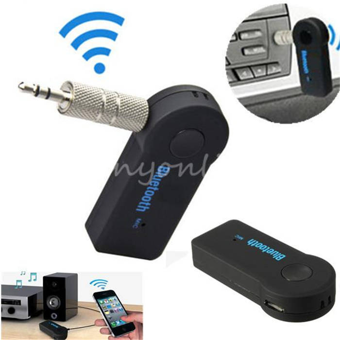 Universal 3.5mm Streaming Car A2DP Wireless Bluetooth AUX Audio Music Receiver Adapter Handsfree with Mic For Phone MP3(China (Mainland))