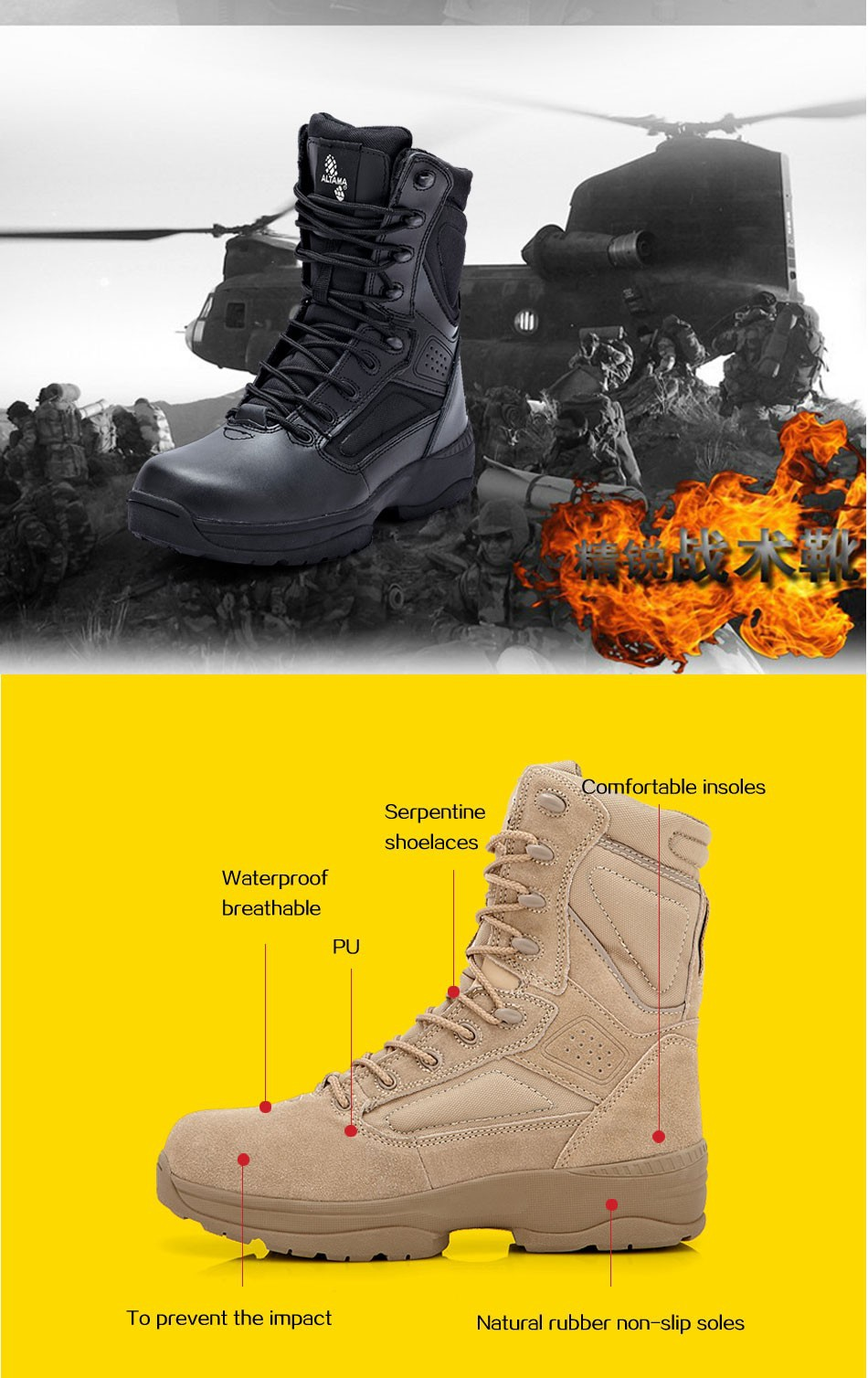 Gobon Military Tactical Motorcycle Combat Outdoor Army Botas Desert