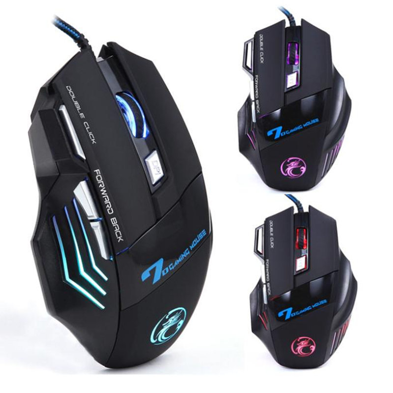 2015 Top Brand X7 3200 DPI 7 Button LED Optical Gaming Mouse USB Wired gamer Mice computer Pro mouse For pc Free Ship Wholesale(China (Mainland))