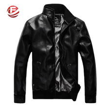 Korean Fashion Man Windproof Leather Jacket Large Size M-5XL Black & Brown Men's Clothing Mandarin Collar Men Casual Coats(China (Mainland))