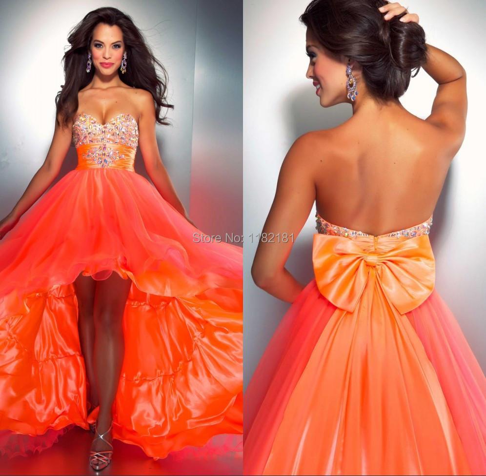 Fein Orange Prom Kleid Galerie - Hochzeit Kleid Stile Ideen ...