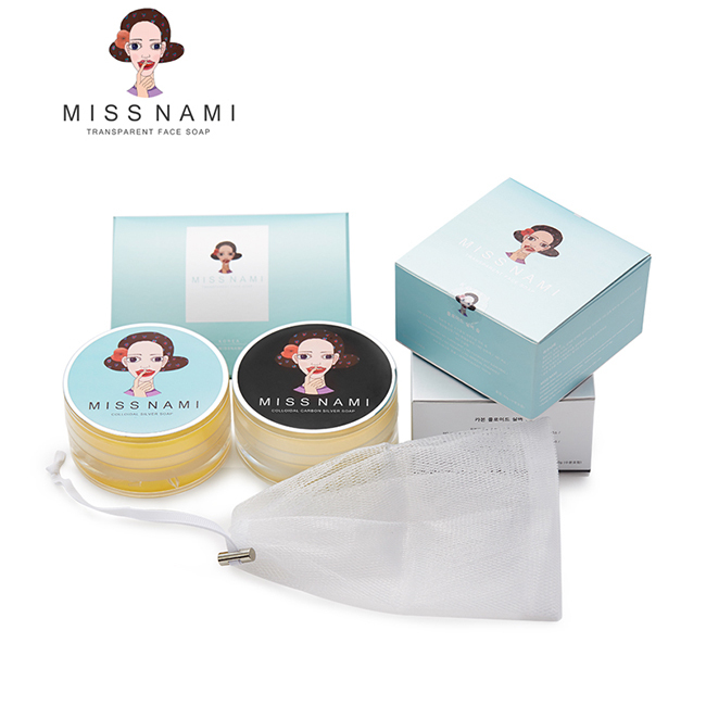 MISS NAMI Colloidal Carbon Silver Face Cleansers , Top Beauty Health Skin Care Soap MN14002KR-S(China (Mainland))