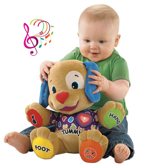 35cm*26cm Baby music plush dog toys Electronic Toys Singing English Songs Learning&Education kids Early development Puppy doll - PRICE SHOP store