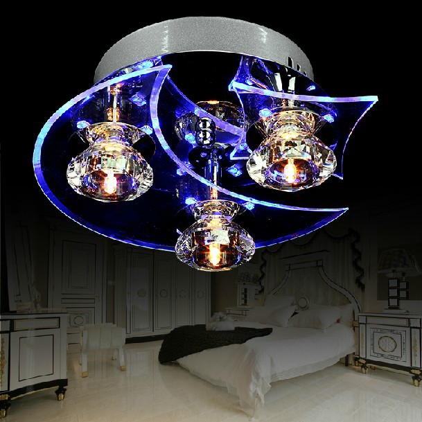 2013 New Deluxe LED Modern Crystal Chandelier D24*H12CM With 3 light Use for living room/Bedroom&amp;CE ROSH<br><br>Aliexpress