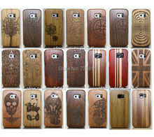 HOT Wooden Bamboo Multi-Pattern Protector Cover Case For Samsung Galaxy S4 Mini i9190 i9192 i9195 i9198/S4/S5/S6 Edge/NOTE 7/4/3(China (Mainland))
