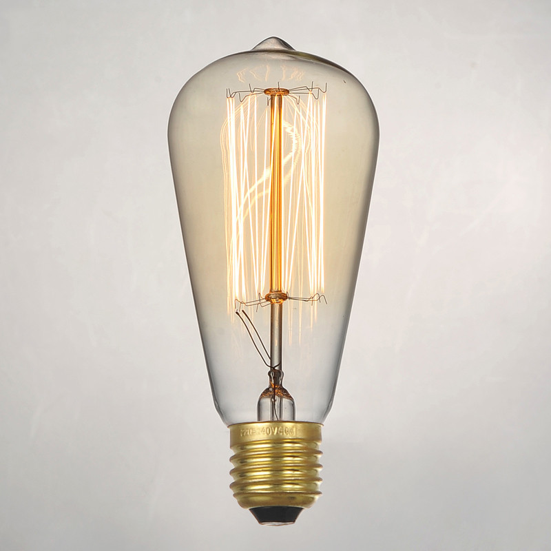 YNL Vintage Edison bulb 220V incandescent light bulb E27 40W decorative light bulb filament bulb G80 G95 ST64 T10(China (Mainland))