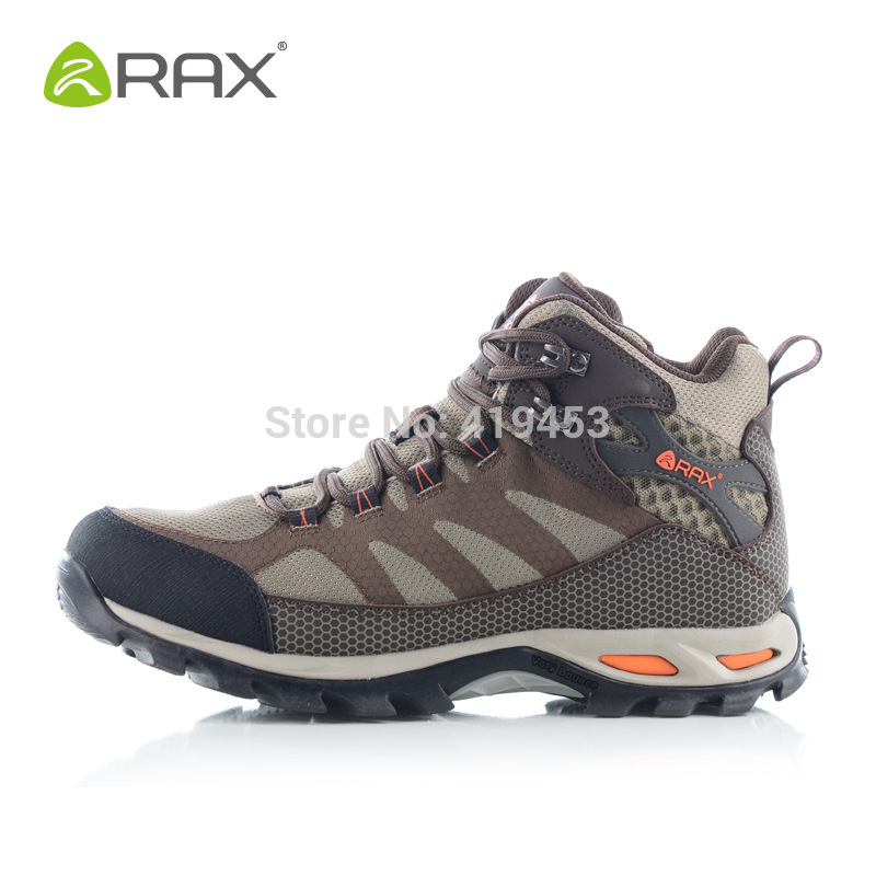 RAX genuine cowhide leather waterproof hiking shoes men shoes, warm outdoor and hiking boots sport climbing shoes A508