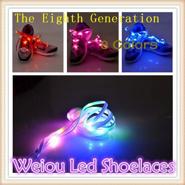 2016 New Arrival Promotion colorful led flashing shoelaces Nylon led shoe lace Disco Party Club(China (Mainland))