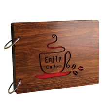 8 Inch Redwood Cover Albums Handmade Loose-leaf Pasted Photo Album 30 pages Personalized Photo Album(China)