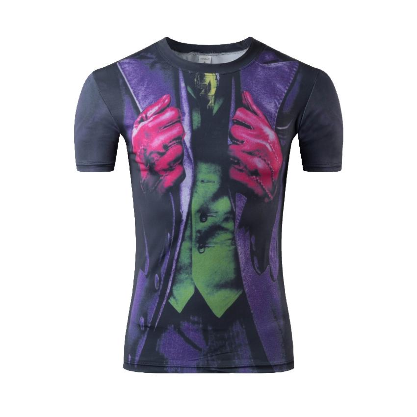 2016 Men's Compression Shirt Bodybuilding man Superman T Shirt Fitness Training Running Gym Tights Short Sleeve Tshirt(China (Mainland))