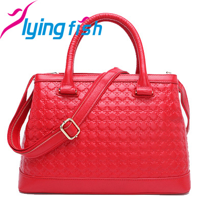 New 2015 Cowhide Embossing Women Tote Bag High Grade Genuine Real Leather Handbags Vintage Ladies Shoulder Messenger Bags pc067<br><br>Aliexpress