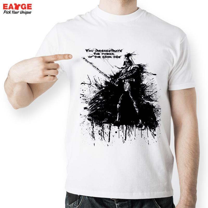 EATGE Black Ink Hand Drawn Darth Vader Shape T Shirt Fashion Creative Starwars T shirt