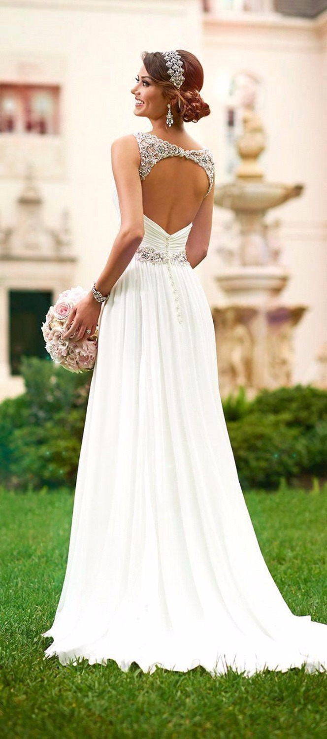 Vestidos De Novia Sexy Beach Wedding Dress Boho Cheap White Iovry Bohemian Wedding Dress 2015