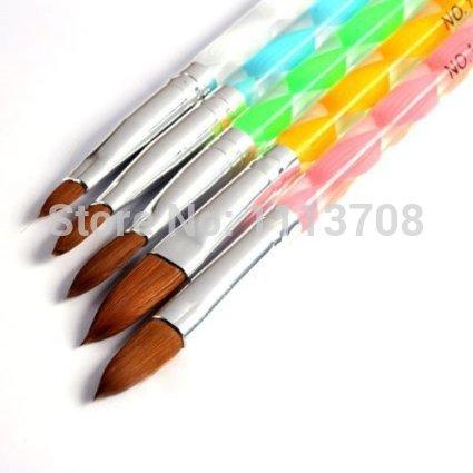 5pcs Acrylic Nail Art UV Gel Carving Pen Brush Liquid Powder DIY Acrylic Nail Brushes set Nail Art Decoration Nail Tools()