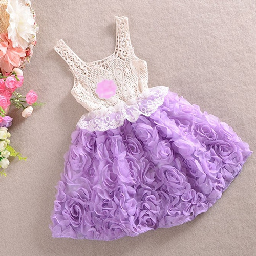 2014 New,girls flower dresses,children chiffon princess dress,rose,pink/red/purple,1-6 yrs,/ lot,,0746
