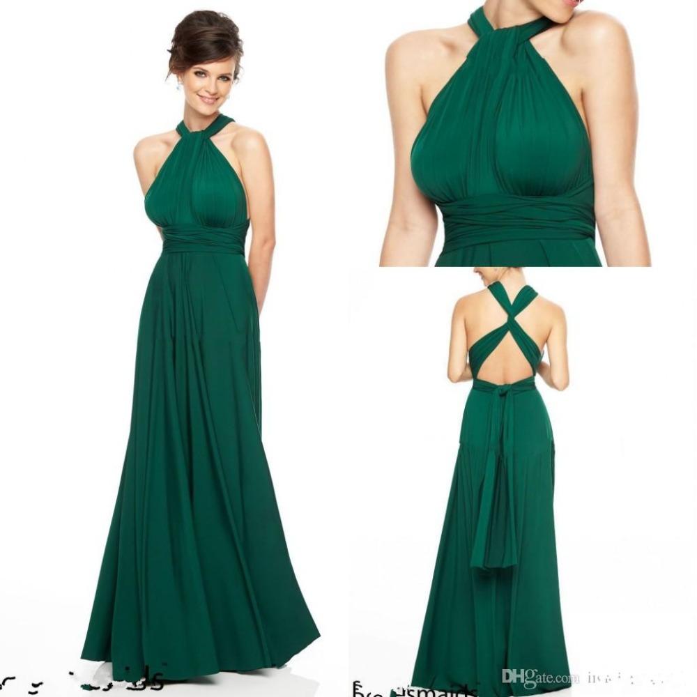 Smaragdgrün Brautjungfer Kleider