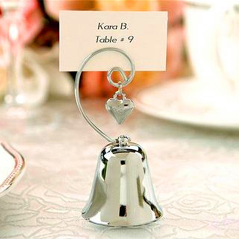 5pcs/lot Wedding decorations Place Card Holders Bell Heart Table Number figure Card digital seat Birthday Party Supplies(China (Mainland))