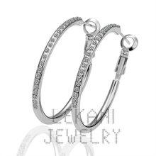 18K Gold Beauty Hoop Rhinestone Earrings Setting With Crystal,Crystal earrings,Free shippingLKN020(China (Mainland))