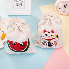 1Pc Cotton Canvas Pouch Drawstring Pen Bags Cases Storage Bag Pencil Box School Supplies Papelaria Gift Gift Bags for Children(China (Mainland))