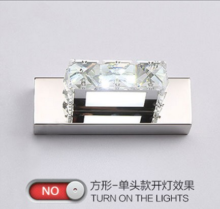 Simple Modern Crystal Wall Sconce Bathroom Wall Lamp LED Mirror Light Fixtures For Home Indoor Lighting Lampe Murale Lamparas