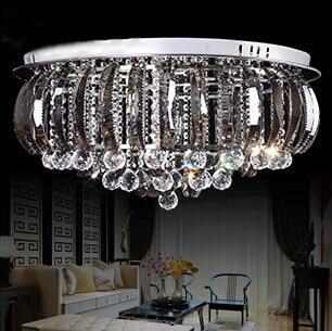 The New Living Room Crystal Lamp Crystal Lamp Bedroom Ceiling Lamp Minimalist Study Of Creative LED Lighting Lamps