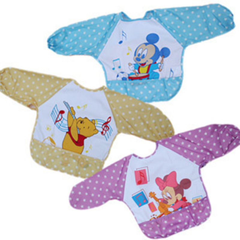 1 pc Baby Bibs Waterproof Lunch Bibs Boys Girls Infants Cartoon Pattern Bibs Children Self font