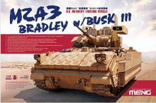 Meng model SS-004 1/35 U.S. Infantry Fighting Vehicle M2A3 Bradley w/BUSK III plastic model kit(China (Mainland))
