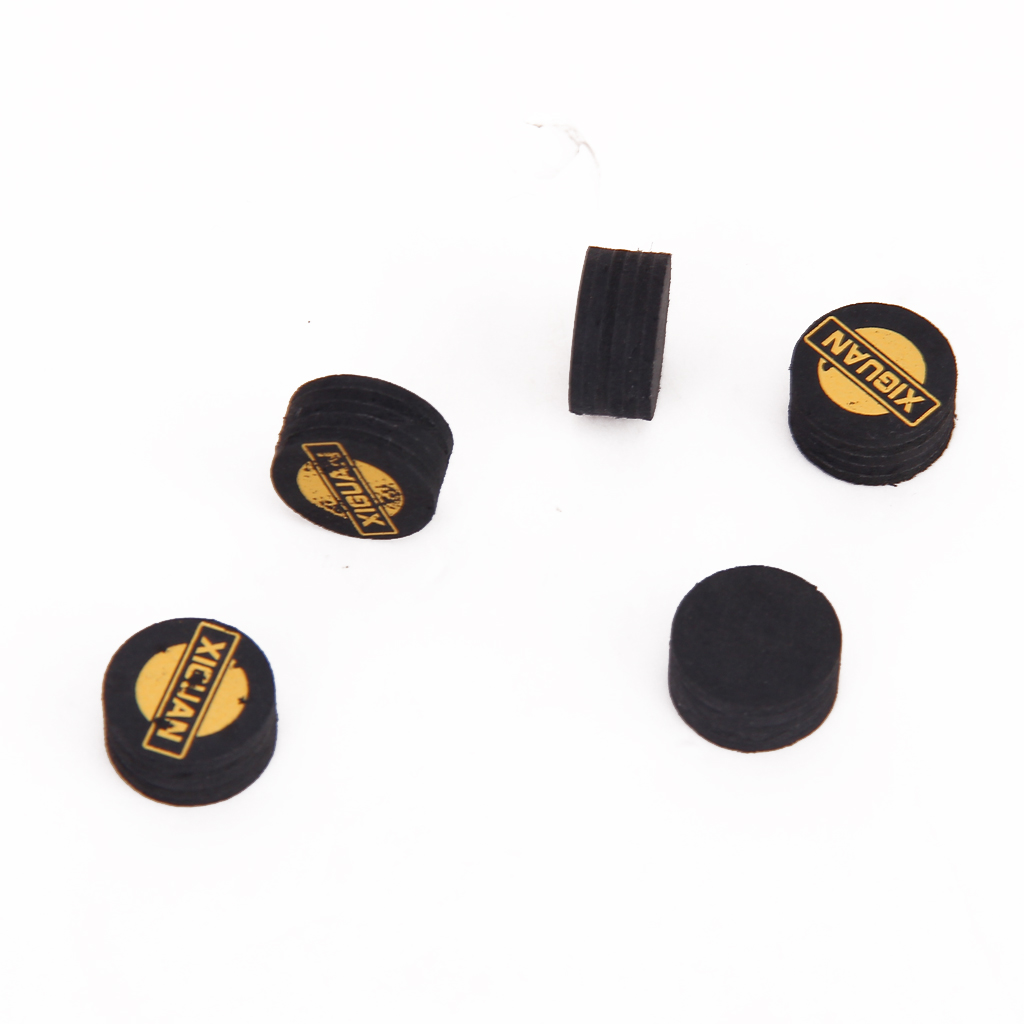New Hot Sale 10pcs 14mm High Quality Black 5 Layered Leather Snooker Billiards Pool Cues Tips Snooker Accessories Supplies(China (Mainland))