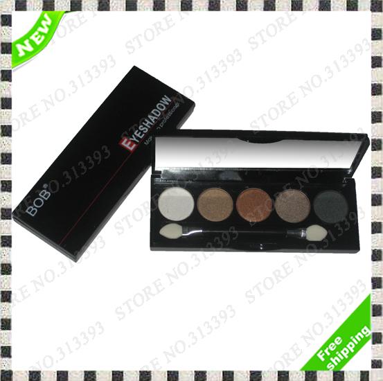 Hot Sale Cosmetic Makeup Eye shadow Pallete Make up 5 Color Mineralize Eyeshadow Pallette BOB-A5 Full Size Kit Set 1Pcs 1 Pcs(China (Mainland))