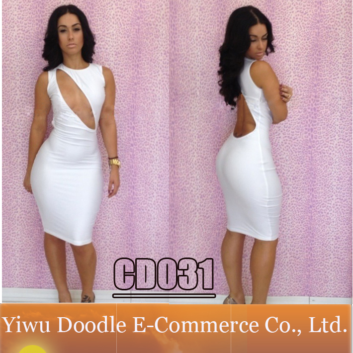 2015 sexy summer women white club casual dress exclusive