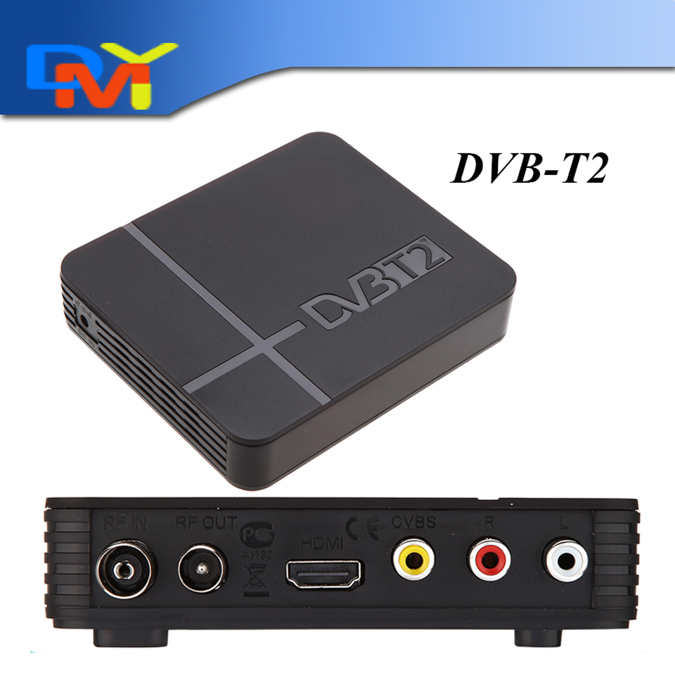 2015 New HD DVB-T2 terrestrial digital television receiver Compatible with DVB T DVB T2 w/ HDMI+USB+PVR for Russia/Colombia(China (Mainland))