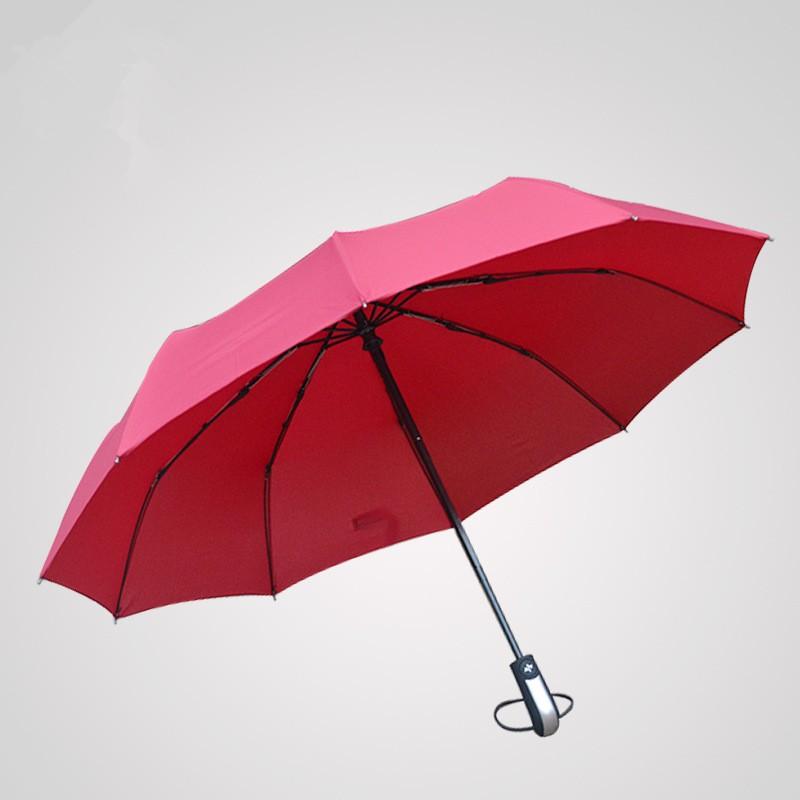 Business Luxury Men Umbrella 3 Folding Full Automatic Umbrella Super Windproof 10 Rib Fashion Blue Red Lady Umbrella Rain Women24