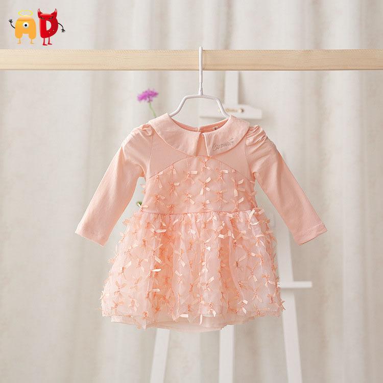 AD Cute Elegant Baby Girl Dress Comfort Casual Dresses Toddler Baby's Clothing Vestidos roupas infantil meninas - Angel vs Devil store