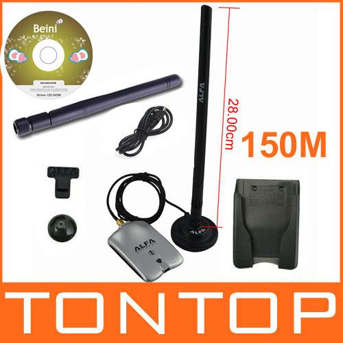Free shipping High power ALFA AWUS036H 1000mw wifi usb adapter 2&7db antenna Ralink RT3070 Chipset