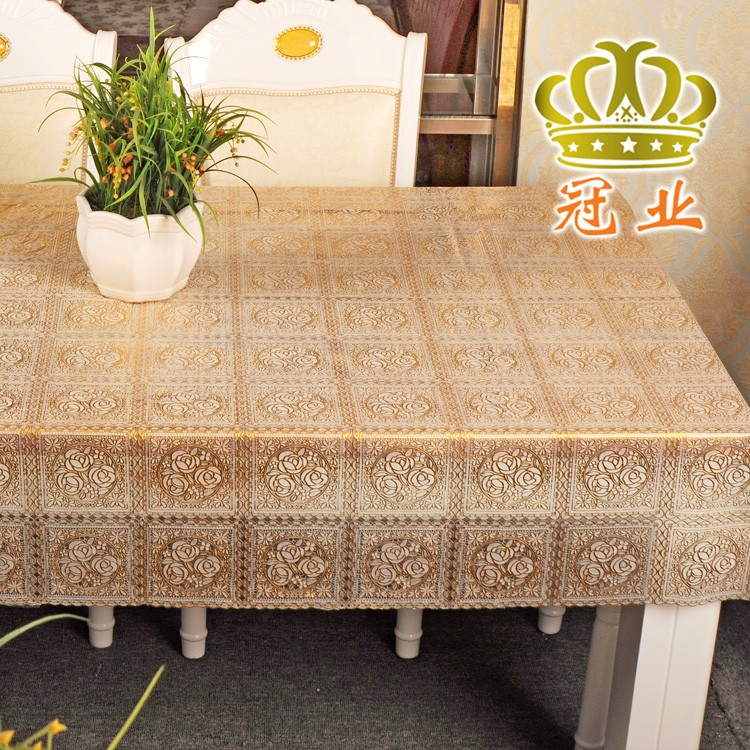 High Quality gold table cloth Waterproof Heatresisting Floral plaid design Square 152*137cm tablecloth for home decoration(China (Mainland))