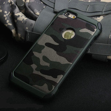 Newest 2 in 1 design Hybrid Durable Camouflage Silicon +PC phone cases for iphone5/5s/6/6s/6plus Protective uniform back cover(China (Mainland))