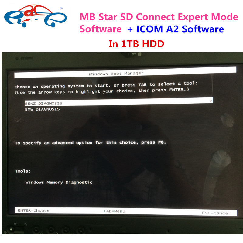 2016 Newest 2016.5 For BMW ICOM A2 Software For bmw isis + MB Star SD Connect C4 Expert Mode Software in 1TB HDD fit more Laptop(China (Mainland))