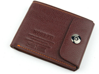 Brand New High Quality Men's Genuine Leather Wallet Brief Short Men Wallets Purses Free Shipping