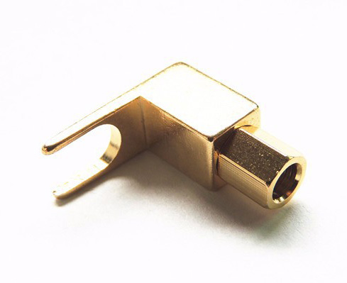 50pcs BRASS Speaker fork Terminal Spade for 4mm Banana PLUG adapter.(China (Mainland))
