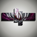 Colorful large acrylic modern painting on canvas for living room wall handmade decorative purple picture abstract