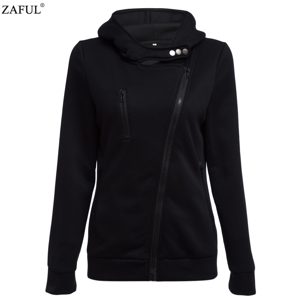 ZAFUL 4 color 2016 New Autumn&winter Women Cotton Hoodies V-Neck Long Sleeve Hoodies With Cat Warm cardigans Female Sweatshirts (3)