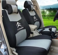"Free Shipping+""Generic Version"" Seat Cover For CITROEN Elysee Picasso C3 C4 C4l C5 DS3 With Breathable Material+Logo+5 colors"
